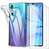 Garegce für Huawei P30 Lite Hülle, für Huawei P30 Lite New Edition Hülle mit Panzerglas 2 Stück...