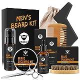 MayBeau Bartpflege Set für Männer Bart Styling Reinigung Kit mit Bartshampoo Bartwachs Bartöl Bartschablonen usw. Bartpflegeset als Geschenkset für Bartpflege Anfänger und Fortgeschrittene