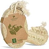 LAEVU - Luffa Schwamm Küche - 6er Pack aus nachhaltigen & natürlichen Materialien - waschbare & Wiederverwendbare Küchenschwämme - vegane Spülschwämme aus Luffa Gurke