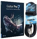 Arobas Guitar Pro 7.5 Notations-Software + keepdrum Gitarrenkabel 6m