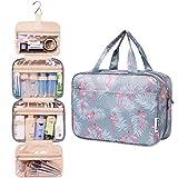 Groß Reise Kulturtasche Zum Aufhängen Kulturbeutel Kosmetiktasche Waschtasche für Kinder Frauen Mädchen Damen (A Flamingo)