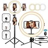 TARION LED Selfie Ringlicht Ringleuchte Licht Set 11 Zoll Blitzgeräte mit Stativ, Handyhalterung, Fernbedienung Dimmbare Lampe für Video Kamera Fotografie Vlog Aufnahme Portrait