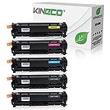 Kineco 5 Toner kompatibel zu Canon 716 für Canon LBP-5050, Canon I-Sensys LBP-8030CN, MF8040CN, MF8050CN, MF8080CW - Schwarz 2.200 Seiten, Color je 1.400 Seiten