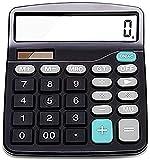 Taschenrechner Bürobedarf, Geschenke zur Einschulung, Standard Taschenrechner, Schulsachen Dual-Power Solar and Batterie Taschenrechner Schule, Mathematik Tischrechner Großer Tasten Großes Display