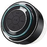 Bluetooth Lautsprecher Dusche, Dland wasserdichte Shockproof drahtlose Bluetooth-Stereo-Lautsprecher Eingebauter Mini Mikrofon f¨¹r Freisprech -Paare mit allen Smartphones- Wireless-Lautsprechertelefon - Music & Fun Indoor & Outdoor