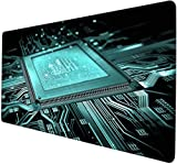 mauspad xl gaming Leiterplatte CPU-Schaltung einfachen Prozessor Cyan Game Mouse Pad XXXL übergroße Desktop-Pad Game Pad riesige wasserdichte rutschfeste