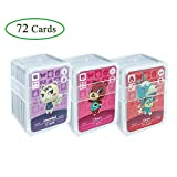 NFC Tag Game Cards for ACNH,72pcs (No. 1-No. 72) Nfc Game Cards with Crystal Case Compatible with...