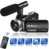 Videokamera Video Camcorder Full HD 1080P 30FPS Camcorder Kamera 18 Fach Digitalzoom Videokamera mit...