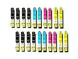 20 Epson kompatible Druckerpatronen T1291 - T1294 für Stylus Office BX 305 F / 320 FW / 525 WD / 625 FWD und Stylus SX 420 W / 525/620