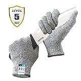 Reinalin Schnittschutzhandschuhe mit High Performance Level 5 Schutz, Lebensmittelsicherheit, Arbeitshandschuhe für die Küche, Mandolinenschneiden, Fleischschneiden und Holzschnitzen (L)