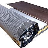 25 m²   uficell Trittschalldämmung ALU PLUS 3 mm Stark   Akustik Tritt- und Gehschalldämmung für Laminat und Parkett - Dichte: 25 kg/m³   Sie kaufen 1 Rolle mit 25 m² (Stärke: 3 mm)