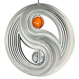 CIM Edelstahl Windspiel - Orbit Yin Yang 300 - Ø300mm - Kugeln: 2xØ50mm - inklusiv Kugellagerwirbel, Haken und 1m Nylonschnur - Winter