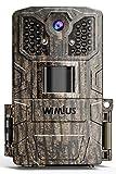 WiMiUS Wildkamera 24MP 1080P Infrarot-Nachtsicht Wildtierkamera mit 940nm IR LEDs, Zeitraffer,...