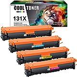 Cool Toner Kompatibel Tonerkartusche als Ersatz für HP 131X 131A CF210X CF210A 128A CE320A 125A CB540A Laserjet Pro 200 Color MFP M276nw M276n M251n M251nw (Schwarz Cyan Gelb Magenta, 4er-Pack)