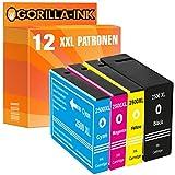 Gorilla-Ink 12x Tinten-Patrone XXL kompatibel mit Canon PGI-2500 Maxify IB 4000 Series 4050 IB 4150 MB 5000 Series 5050 5300 Series 5350