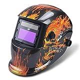 Automatik Schweißhelm Schweißmaske Schweißschirm für Wig & Mig Schweißgeräte | Großes Sichtfeld - Größenverstellbar von Vector Welding