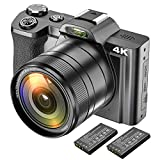 4K Digitalkamera Videokamera Camcorder Ultra HD 48MP WiFi YouTube Vlogging Kamera mit...