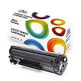 NPC Print Kompatibel Tonerkartusche HP 35A 36A 85A CB435A CB436A CE285 / Canon CRG 725 Toner für HP LaserJet P1005, P1006, P1505, P1505N, P1100, P1102, P1102W, M1132, M1210, Pro M1130, M1212NF, M1217NFW, M1132MFP, M1120, M1120, M1522, M1522F, M1522N, M1522NF, M1550; Toner für Canon LBP3250 LBP6000 LBP6020 MF3010 Schwarz