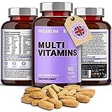 Multivitamin & Mineralien A-Z Komplex - 90 hochdosierte Tabletten: in nur 1 Tablette täglich: Zink, Eisen, Magnesium, 100% ETD an A C B2 B3 B6 B7 B12 D E für Männer & Frauen - natürliche Inhaltsstoffe