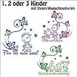 ***NEU*** Baby/Kinder Autoaufkleber Geschwister inkl. Wunschtext (freie Motiv,- Schrift.- und Farbwahl) by A&D Design