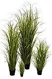 Klocke Kunstpflanzen Hochwertiges & Künstliches Gras/Dekogras im Topf - Wunderschön & Naturgetreu - Grasarrangement/Gras Arrangement/Grasbüschel/Grasbündel (Klein: 45cm)