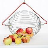 Feucht Obsttechnik Apfel-Sammler mit Holzstab- der Roll-Blitz die kleinste Obstaufsammelmaschine der Welt direkt vom Hersteller für Apfel, Birnen