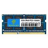 Rasalas 8GB DDR3 PC3-10600S DDR3 1333MHz 1.5V CL9 Arbeitsspeicher 2RX8 PC3 204 Pin SODIMM Laptop Notebook Computer Speicher Ram Modul Chips
