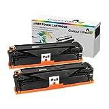 2 X Colour Direct CRG725 725 Kompatibel Schwarz Toner Patronen Ersatz für Canon I-Sensys LBP-6000 LBP-6000B LBP-6020 LBP-6020B MF3010 MF-3010