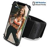 waschbares Sport Armband, Atmungsaktives Laufen Armband, 360° drehbares Laufarmband, elastisches...
