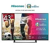 Hisense 43AE7200F 108 cm (43 Zoll) Fernseher (4K Ultra HD, HDR, Triple Tuner DVB-C/S/S2/T/T2, Smart TV, Mittelstandfuß, Frameless, Bluetooth, Alexa) [Modelljahr 2020]