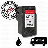 vhbw Ersatz Tintenpatrone Druckerpatrone schwarz kompatibel mit Canon Pixma ip2700, ip2702, MP240, MP250, MP252, MP260, MP270, MP272, MP280 Ersatz für PG-510, PG-510XL