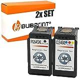 2 Bubprint Druckerpatronen kompatibel für Canon PG-545XL CL-546XL für Pixma IP2850 MG2550 MG2550S MG2555S MG2950 MG2950S MG3050 MG3051 MX490 MX495 TR4550 TR4551 TS3150 TS3151 Multipack