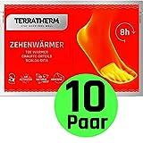 TerraTherm Fußwärmer-Pads, Wärmepads selbstklebend, 8h warme Füße, Zehenwärmer Pads extra dünn und angenehm weich, 10 Paar