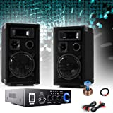 etc-shop PA Party Kompakt Musikanlage Boxen Verstärker Bluetooth USB SD MP3 DJ-Compact 3