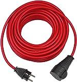 Brennenstuhl Baustellen-Verlängerungskabel (Outdoor-Verlängerungskabel mit 25m Kabel in rot, ölbeständig, für den ständigen Einsatz im Außenbereich IP44)