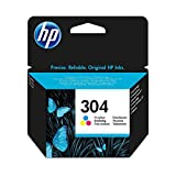HP 304 Farbe Original Druckerpatrone für HP DeskJet 2630, 3720, 3720, 3720, 3730, 3735, 3750, 3760; HP ENVY 5020, 5030, 5032