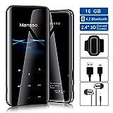 16GB MP3 Player, Mansso 2.4 Zoll/3D gebogener Bildschirm/Bluetooth MP3, mit Lautsprecher FM Radio Voice Recorder, Speicher Erweiterbar bis 128 GB