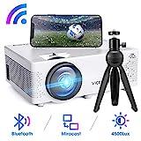 Mini Beamer, VicTsing WiFi Beamer Full HD mit Bluetooth, Native 720P 4500 Lumen, Support 1080P Handy...