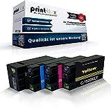 4X Print-Klex Tintenpatronen kompatibel für Canon Maxify MB 2000 Series MB 2050 MB 2300 MB 2300 Series MB 2350 PGI1500XL PGI-1500XL Schwarz - Black Cyan Magenta Yellow
