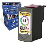 1x Druckerpatrone Ersatz für Canon CL-41 XL Color Farbe Farbig für Canon PIXMA MP140 MP450 MP190 MP210 MP220 MP470 MP460 IP2500 IP1800 IP1900 MX300 IP2600 IP1600 IP2200
