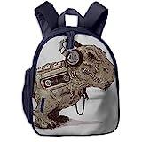 ADGBag Kinder Rucksack Tyrannosaurus Walkman Kids School Backpack School Bookbag Kid Toddler Backpack Backpack for 2-9 Year Old Girl Boy