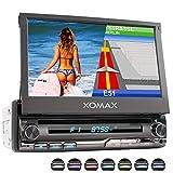 XOMAX XM-DN776 Autoradio mit Mirrorlink, GPS Navigation, Navi Software, Bluetooth Freisprecheinrichtung, 7 Zoll / 18cm Touchscreen Bildschirm, RDS, DVD, CD, USB, SD, AUX, 1 DIN