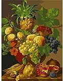 JIAORLEI DIY Für Kinder Und Erwachsene Ölgemälde Kit Einzigartiges Geschenk Fruchtextrakt Auf Leinwand Haus Büro Wanddekor-40x50cm No Frame