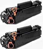 Printing Saver 712 SCHWARZ (2) Toner kompatibel für Canon i-SENSYS LBP-3010, 3100, LaserShot LBP-3018, 3108, 3050, 3150, 3010, 3100