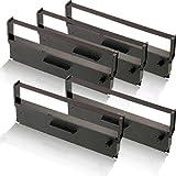 5x kompatibles Farbband - Nylonband schwarz für Epson TMH5000 II TMH5000II TMH5000P TMU590 TMU925 TMU930 II TMU930II TMU950 TMU950P C43 S015369 ERC31 ERC 31
