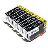 5X Premium kompatible Tintenpatronen ersetzt Canon PGI 5 Black für Pixma IX 4000, 5000, IP 3300, 3500, 4200, 4300, 4500, 5200