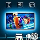TV Hintergrundbeleuchtung mit Alexa, Govee 3m USB LED Beleuchtung mit APP für 46-55 Zoll HDTV, RGB LED Fernseher Beleuchtung für PC, Kompatibel mit Alexa, Google Assistant(Unterstützt nur 2.4G WiFi)