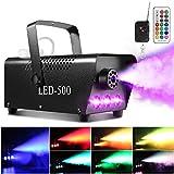 Nebelmaschine, AGPtEK Rauchmaschine mit 13 farbigen LED Lichtern und RGB Effekt, 500W und 2000CFM...