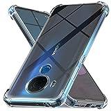 Ferilinso Hülle für Nokia 5.4 / Nokia 3.4 [Kompatibel mit Panzerglas Schutzfolie] [Klar Silikon Handy Hüllen] [Stoßfest Kratzfest ] [Shock Absorption Schutzhülle] [Bumper Crystal]