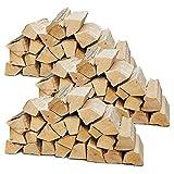 Brennholz Kaminholz Holz Auswahl 5-90 kg Für Ofen und Kamin Kaminofen Feuerschale Grill Buche Feuerholz Buchenholz Holzscheite 25 cm Kammergetrocknet Flameup, Menge:90 kg